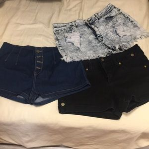 High waist Jean short bundle of 3